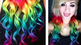 Dying my Hair RAINBOW | HeyThereImShannon - YouTube