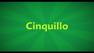 CiNQuiLLo YouTube video
