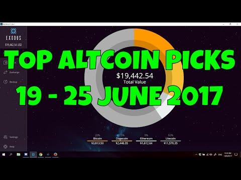 TOP ALTCOIN PICKS!   19 - 25 JUNE 2017 video