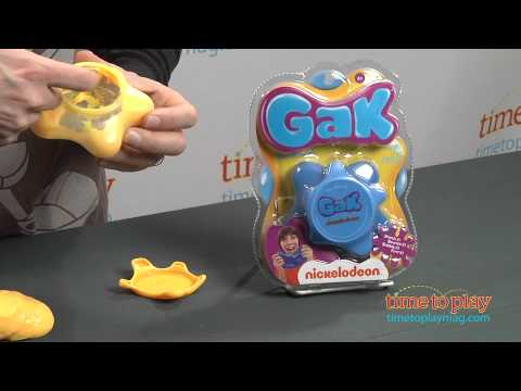 gak - See the full review at http://www.timetoplaymag.com/toys/3534/nsi/gak/ Nickelodeon's Gak is back! Gak is a squishable, squeezable, squashable, stretchable, b...