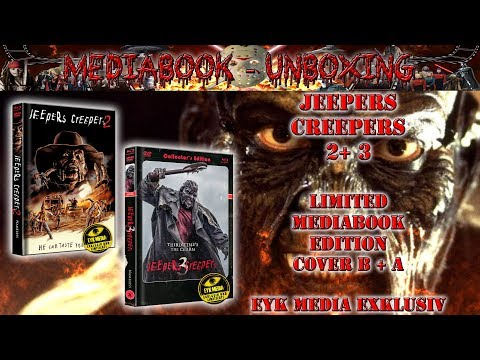 Unboxing - Jeepers Creepers 2 + 3 - Mediabooks - Cover B + A - EYK MEDIA Exklusiv