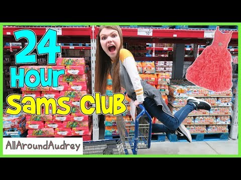 24 Hour Overnight Challenge In Sams Club / AllAroundAudrey