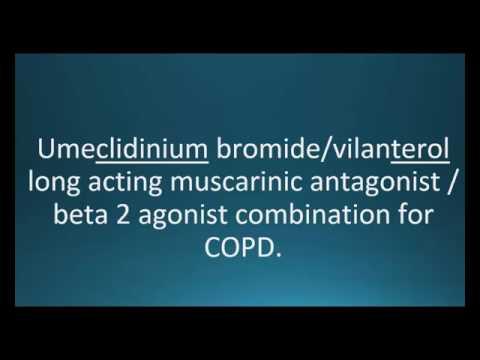 How to pronounce umeclidinium / vilanterol (Anoro Ellipta) (Memorizing Pharmacology Video Flashcard)