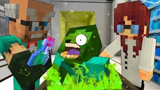 KIDNAPPED By EVIL Scientist - MINECRAFT STEVE AND BABY ZOMBIE [28]