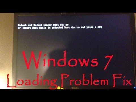 Windows 7 Loading Boot Driver Error Fix - Reboot And Select Proper Boot Device Fix