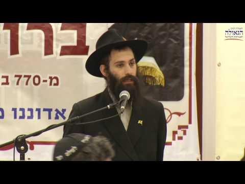 הרב פרישמן פותח את כינוס ברוכים הבאים