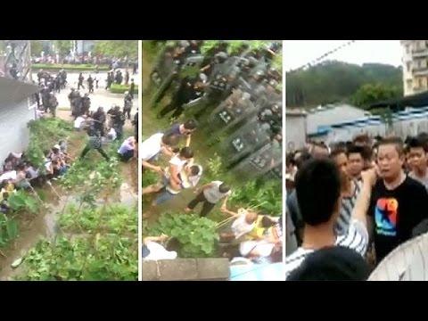 Κίνα: Ξύλο και συλλήψεις για τον αποτεφρωτήρα απορριμάτων