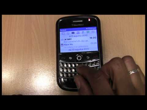 Robert Webbe - Facebook app op BlackBerry 9700.