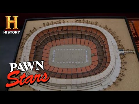 Pawn Stars: HAIL MARY DEAL for Miami Dolphins Stadium Model (Season 9) | History