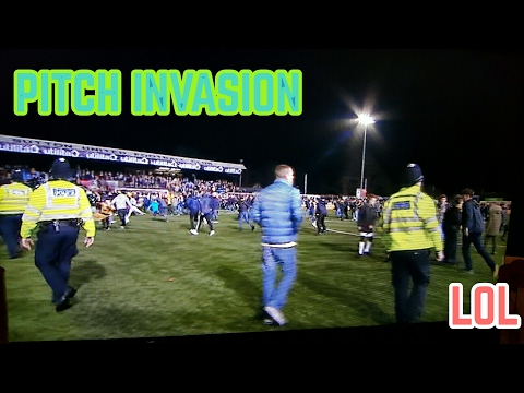 PITCH INVASION AFTER SUTTON AND ARSENAL GAME