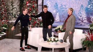 Rob Lowe's Son Trolls Him from Backstage