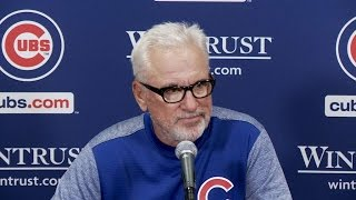 Cubs Manager Joe Maddon talks about the team's poor hitting and Eddie Butler's performance in 3-2 loss to the Padres Check out ...