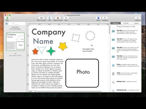 How to add shapes and colors to your email using Awesome Mails Pro 2 for Mac