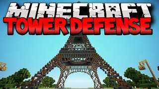 Minecraft Tower Defense PvP War (Minecraft Towers Mini-Game) w/ Lachlan&Friends