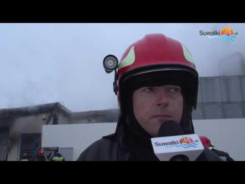 Pożar w suwalskiej strefie ekonomicznej. Spłonęła hala firmy Ortis