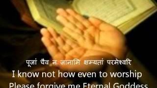 Aparadha Kshama Stotram Devanagari Sanskrit English Translations.wmv