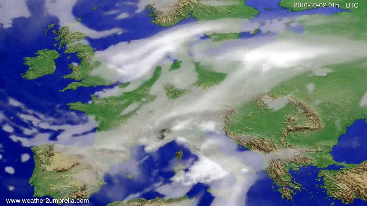 Cloud forecast Europe 2016-09-29