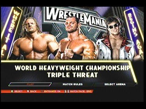 Video WWE 2k14- Wrestlemania 20 Shawn Michaels Vs Triple H Vs Chris Benoit download in MP3, 3GP, MP4, WEBM, AVI, FLV January 2017