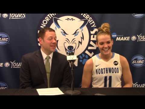 Northwood University Women's Basketball (2/1/16) NU 73, Lake Superior State 57 - Press Conference