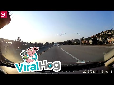 Airplane Makes Emergency Landing on Busy California Freeway