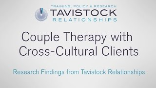 Research findings: Couple therapy with cross cultural clients