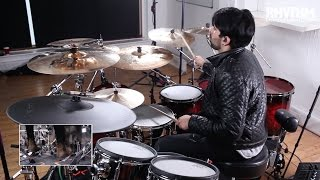 - Download Kaz's track 'Thoughts' for FREE at http://bit.ly/KazLessons - In recent years UK drummer Kaz Rodriguez has made fans of drumming superstars like Travis Barker, Aaron Spears, Tony Royster and Chris Coleman and become the most talked about drummer in the industry.You can read Kaz's incredible story in this month's Rhythm Magazine [http://bit.ly/RhythmMagazineKaz]. We couldn't include Kaz in the magazine without bottling some of that supreme talent for you to study. In this world-exclusive lesson series Kaz plays through the track 'Thoughts' from his Thoughts Vol 3 album, before talking you through some of the key drum parts in detail.Pick up the issue for the interview and full lesson notation, and download the 'Thoughts' drumless backing track for free at http://bit.ly/KazLessons.
