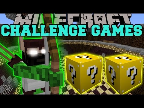 Minecraft: ELF HUNTER CHALLENGE GAMES – Lucky Block Mod – Modded Mini-Game