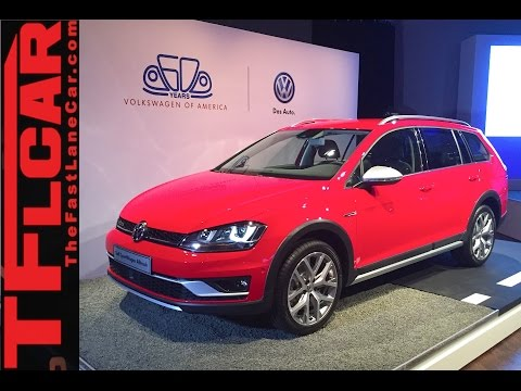 2017 VW Golf SportWagen Alltrack: 2015 New York Auto Show One Take