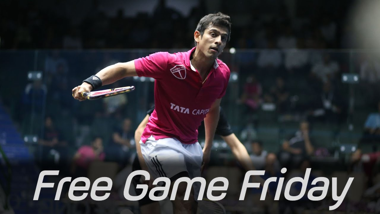 Squash: Free Game Friday – Saurav Ghosal v Peter Creed – Windy City Open 2014