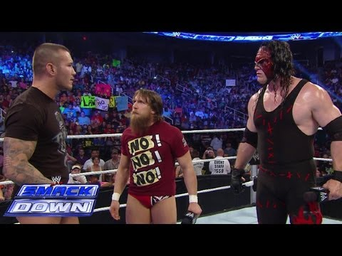 smackdown - Team Hell No and Randy Orton have trouble getting along before their Six-Man Tag Team Match against The Shield.