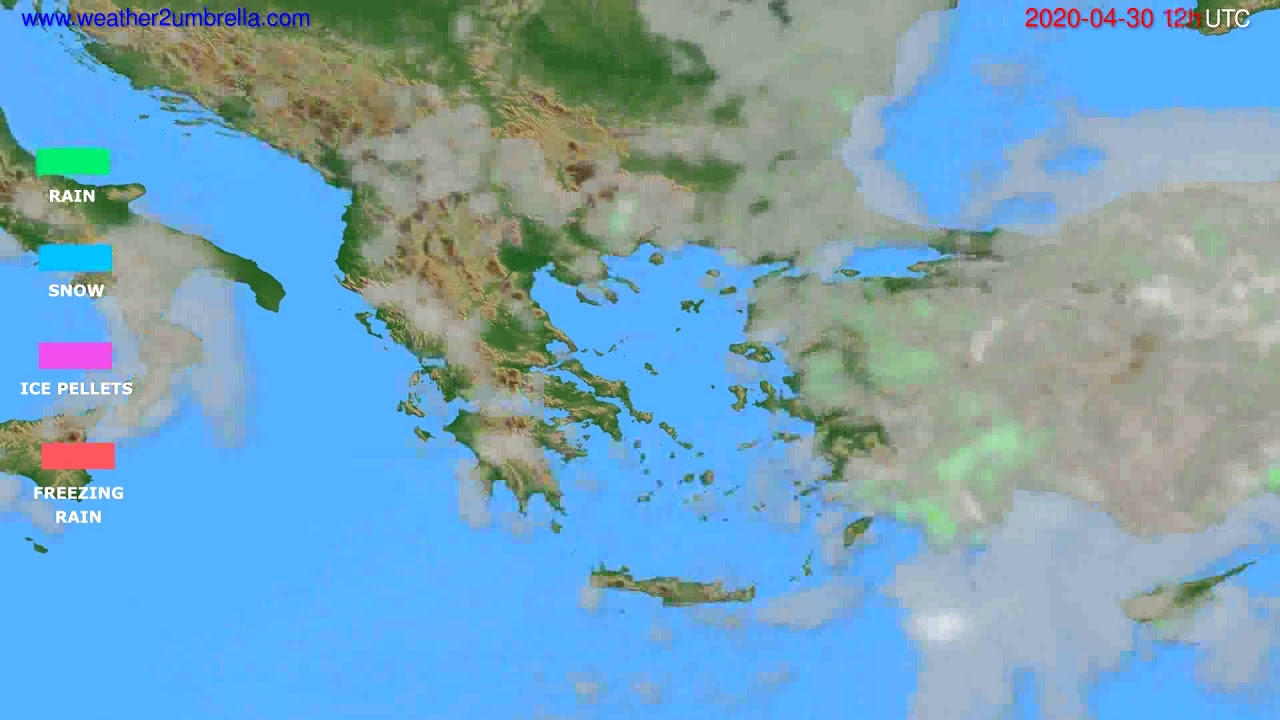 Precipitation forecast Greece // modelrun: 00h UTC 2020-04-30