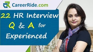 Crack your HR interview with these questions and answers for experienced candidates. Easy tips and techniques allow you to prepare, practice and develop the best sample answers. This video will be useful for all candidates like accountants, bank, business analysts, engineers, graduates, IT jobs, managers, sales, marketing, finance etc.