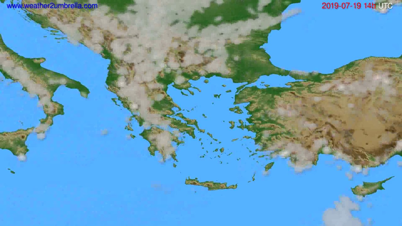 Cloud forecast Greece // modelrun: 00h UTC 2019-07-17