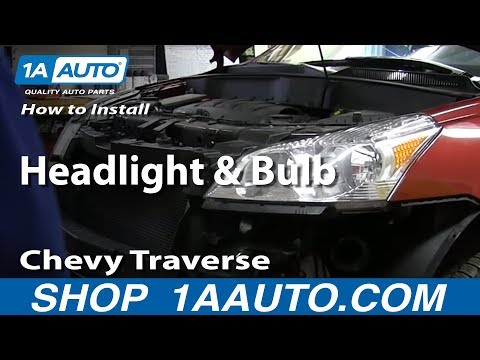 How To Install Replace Change Headlight and Bulb 2009-2014 Chevy