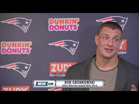 Video: Rob Gronkowski Patriots vs. Bills Week 8 Postgame Press Conference