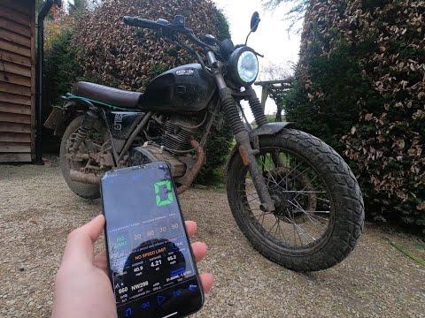 Brixton BX125X Top Speed GPS