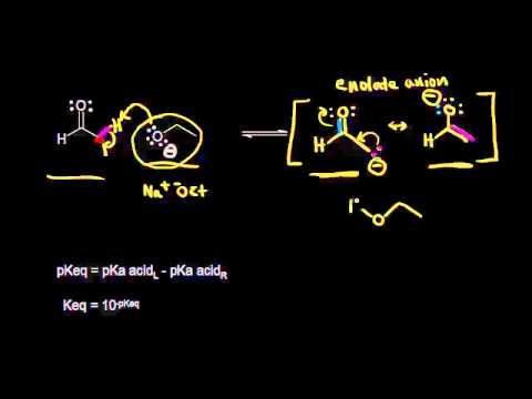 Enolate Formation From Aldehydes Video Khan Academy