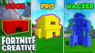 Fortnite Secret Base! - NOOB vs. PRO vs. HACKER (Creative Mode)