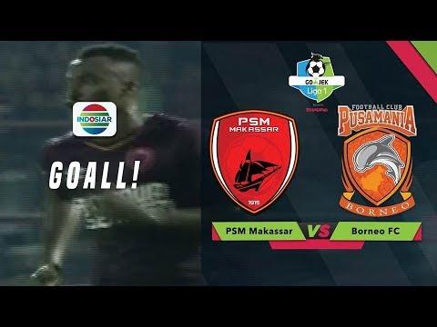 Gol Tendangan Bebas dari Guy Junior PSM Makassar (1) vs Borneo FC (0)