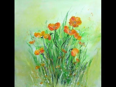 Acrylmalerei für Anfänger, Blumen, Painting for Beginners, Flowers