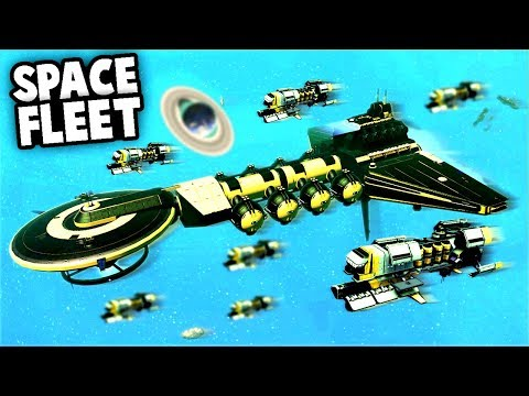 Amazing SPACE BATTLE! Encountering a massive SPACE FLEET! (No Man's Sky Multiplayer Gameplay)