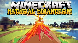 Minecraft Mods - NATURAL DISASTERS! (Meteors, Earthquakes & Volcanoes)