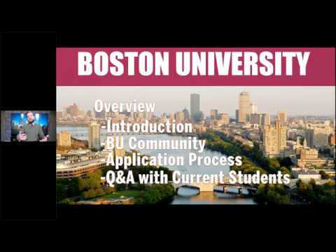 Boston University- Early Decision Virtual Event 10/15/19
