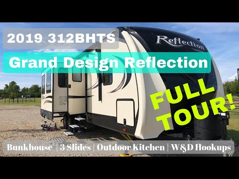2019 Grand Design Reflection 312BHTS Tour || Bunkhouse Travel Trailer || Best Bunkhouse RV