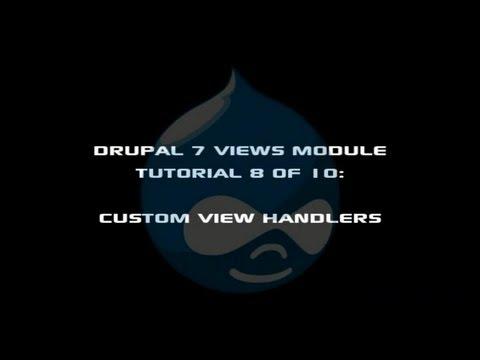Drupal 7 Views Module Tutorial 8 of 10 - Views Custom Field Handlers | Peter Yaworski, Toronto Website Developer