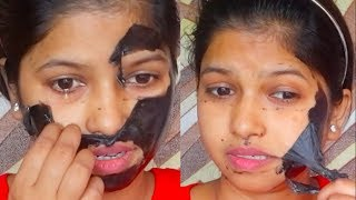 Video Charcoal Peel Off mask Gone Wrong? || Before using Charcoal mask Must watch this video MP3, 3GP, MP4, WEBM, AVI, FLV Agustus 2018