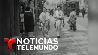 """Video oficial de Noticias Telemundo. El Museo de la Paz de Hiroshima ha desvelado un vídeo inédito que muestra la vida cotidiana en la ciudad japonesa en 1935, una década antes de la bomba atómica que la devastaría por completo.SUBSCRIBETE: http://bit.ly/1JI1uXVNoticiasEste es el canal en Youtube de la división de noticias de la cadena Telemundo en los Estados Unidos. El """"Noticiero Telemundo"""", presentado entre semana por María Celeste Arrarás y José Díaz-Balart -y fines de semana por Edgardo del Villar- es el programa insignia de la división y la fuente de información más confiable de la comunidad hispana en los Estados Unidos. El programa """"Enfoque con José Díaz-Balart"""" y los eventos especiales de la cadena, forman parte del compromiso de Telemundo para llevar a los hispanos información política y social que pueda guiarlos en los Estados Unidos. El galardonado equipo de corresponsales y colaboradores de Noticias, ofrece las últimas noticias, entrevistas con personajes claves, análisis y comentarios sobre el acontecer nacional e internacional. SUBSCRIBETE: http://bit.ly/1JI1uXVTelemundoEs una división de Empresas y Contenido Hispano de NBCUniversal, liderando la industria en la producción y distribución de contenido en español de alta calidad a través de múltiples plataformas para los hispanos en los EEUU y a audiencias alrededor del mundo. Ofrece producciones originales, películas de cine, noticias y eventos deportivos de primera categoría y es el proveedor de contenido en español número dos mundialmente sindicando contenido a más de 100 países en más de 35 idiomas.SIGUENOS EN TWITTER: http://bit.ly/1OLjUGlDANOS LIKE EN FACEBOOK: http://on.fb.me/1VXiWwoGOOGLE+: http://bit.ly/1P0PaSCPublican un vídeo inédito de Hiroshima una década antes de la bomba nuclear  Noticias  Noticias Telemundo"""