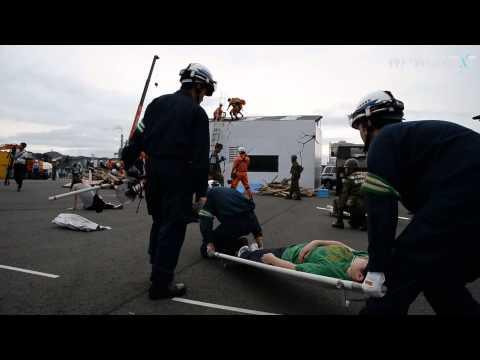 南海トラフ地震想定、姫路で防災訓練