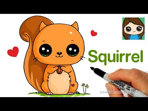 How To Draw A Squirrel Easy Draw So Cute Video Mp3lover Org