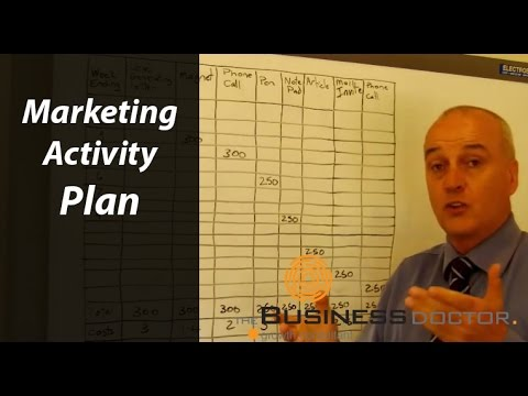 Marketing Activity Plan – The Business Doctor